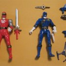 Power Rangers  Blue and Red Rangers Action Figures with accessories