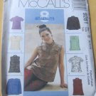 Asian style tops with or without sleeves sewing pattern McCalls 9281 Size 8,10,12 Uncut