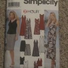 Simplicity pattern 5956 Halter Style Dress or Tops & Skirt Misses Knit Coordinates 12,14,16,18