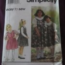 Simplicity 9237 girl's size 3,4,5,6 Two Length Jumper dress, shirt, petticoat pattern