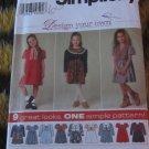 Simplicity 7354 Sz 5 6 7 8 Childrens Dress and Vest UNCUT