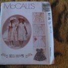 McCall's 8116 Kitty Benton Girl's Empire Waist Tulip Sleeve Full EASTER Dress Sz 4,5,6 UNCUT
