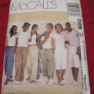 McCall's 2586 Unisex Mens & Teens Drawstring Pants in 3 Lengths Sewing Pattern-Size XS,Sml,Medium