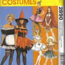 McCalls 2890 Sexy Costumes Witch French Maid Saloon Girl Riding Hood Nurse Country Girl  UNCUT