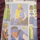 Sewing Pattern Simplicity 5333 - Unisex Child, Teens, Adult & Dog Fleece Accessories