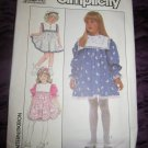 Vintage Simplicity 8967 Pattern Child's Yoke Square Collar Dress Size 4 UNCUT