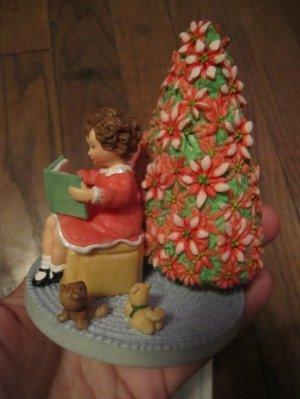 Hallmark Spoonful of Stars The Heart of Christmas Figurine (Girl reading book)