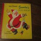 Vintage Little Golden Book Walt Disney's Santa's Toy Shop 1950