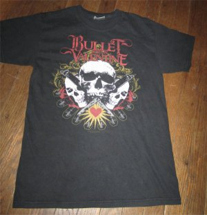 Bullet For My Valentine Rock Shirt Adult Size Small Skulls Roses Logo