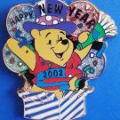 12 Months of Magic - Happy New Year 2002 (Pooh) Disney Store Pin