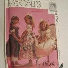 McCall's 6887 Child's Alicyn Wedding party flower girl Girls Tied Overskirt dress