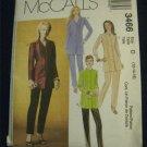 Long Tunic Princess Seams,Slim Pants McCalls 3466 UNCUT 12-14-16