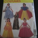 McCall's Pattern 8867 CHILD'S SIZE 4/5 PRINCESS COSTUMES PATTERNS DOROTHY, SNOW WHITE, BELLE, AURORA