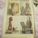"1970's VTG Simplicity Holly Hobbie 20"" Rag Doll & Wardrobe Pattern 6006 Uncut FREE SHIPPING"