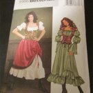 Butterick Costume Pattern 3906 Pirate Medieval Wench Barmaid Dress Size 12,14,16 UNCUT