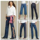 McCall's Sewing Pattern 5142 Misses Size 10-16 Classic Fit Perfect Blue Jeans Cropped Ankle Length
