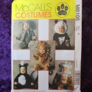 Animal Halloween Costume Skunk Lion Monkey Elephant Panda Sewing Pattern Size 4 FREE SHIPPING