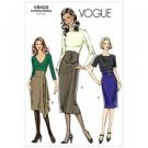 Vogue Pattern V8425 Ms EASY High Waisted Skirt in 2 Lengths w/Band Variations CUT pattern Size 4,6