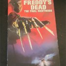 Freddy's Dead: The Final Nightmare VHS HORROR Feat.Alice Cooper,Johnny Depp