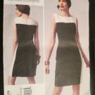 Kay Unger New York Vogue American Designer Color Blocked Sleeveless Dress V1329 Sizes 16,18,20,22,24
