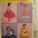 McCalls M5950 Toddler/Girl No Sew Fairy Costume & Tut Size 1,2,3