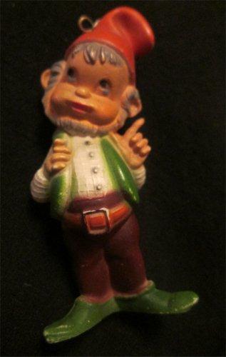 Vintage Hong Kong  Gnome Elf  Plastic Figure Ornament