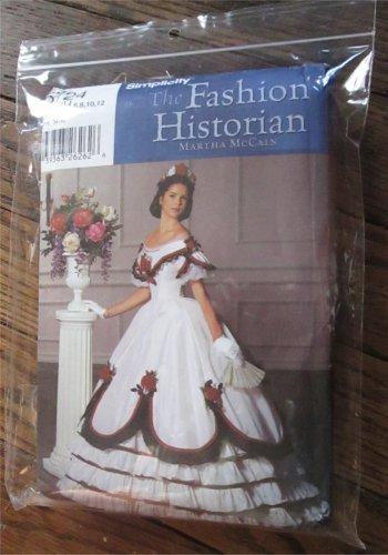 Simplicity 5724 Sewing Pattern Civil WAR Dress FORMALVictorian Ball Gown 6 12