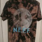 NEFF Novelty Funny E.T. Extra Terrestrial Movie Spoof  T-Shirt Size Small Bleach Dyed FREE SHIPPING