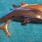 Double Dolphin Silver Gold Pin Brooch / Pendant FREE SHIPPING