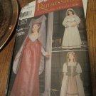 SIMPLICITY PATTERN 9836 CHILD'S RENAISSANCE LADY, MAIDEN COSTUMES Size 7,8,10,12,14 Uncut