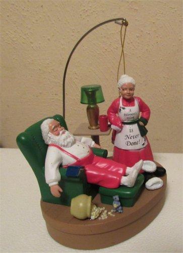 Santa & Mrs Clause Light Up Singing Ornament  Santa's Best CUTE! FREE SHIPPING