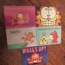 5 Vintage 1978 Comic Garfield Cat Postcards Jim Davis Unused FREE SHIPPING