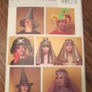 FREE SHIPPING BUTTERICK Pattern 4313 7 DIFFERENT COSTUME HATS SIZES S/M/L/XL UNCUT