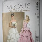 McCall's Bridal Elegance Top and Skirt Gown Dress Size 14,16,18,20