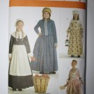 Simplicity 3725 Prairie Dresses for Girls Size K5 7,8,10,12,14 Uncut