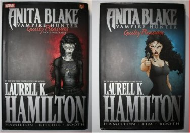 Anita Blake Vampire Hunter Guilty Pleasures 2 Hardcover Graffic Novels Laurel Hamilton FREE SHIPPING