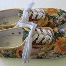 Bradford Exchange Art Sneakers Shoes SUNFLOWER SPLENDOR Woman's Size 10
