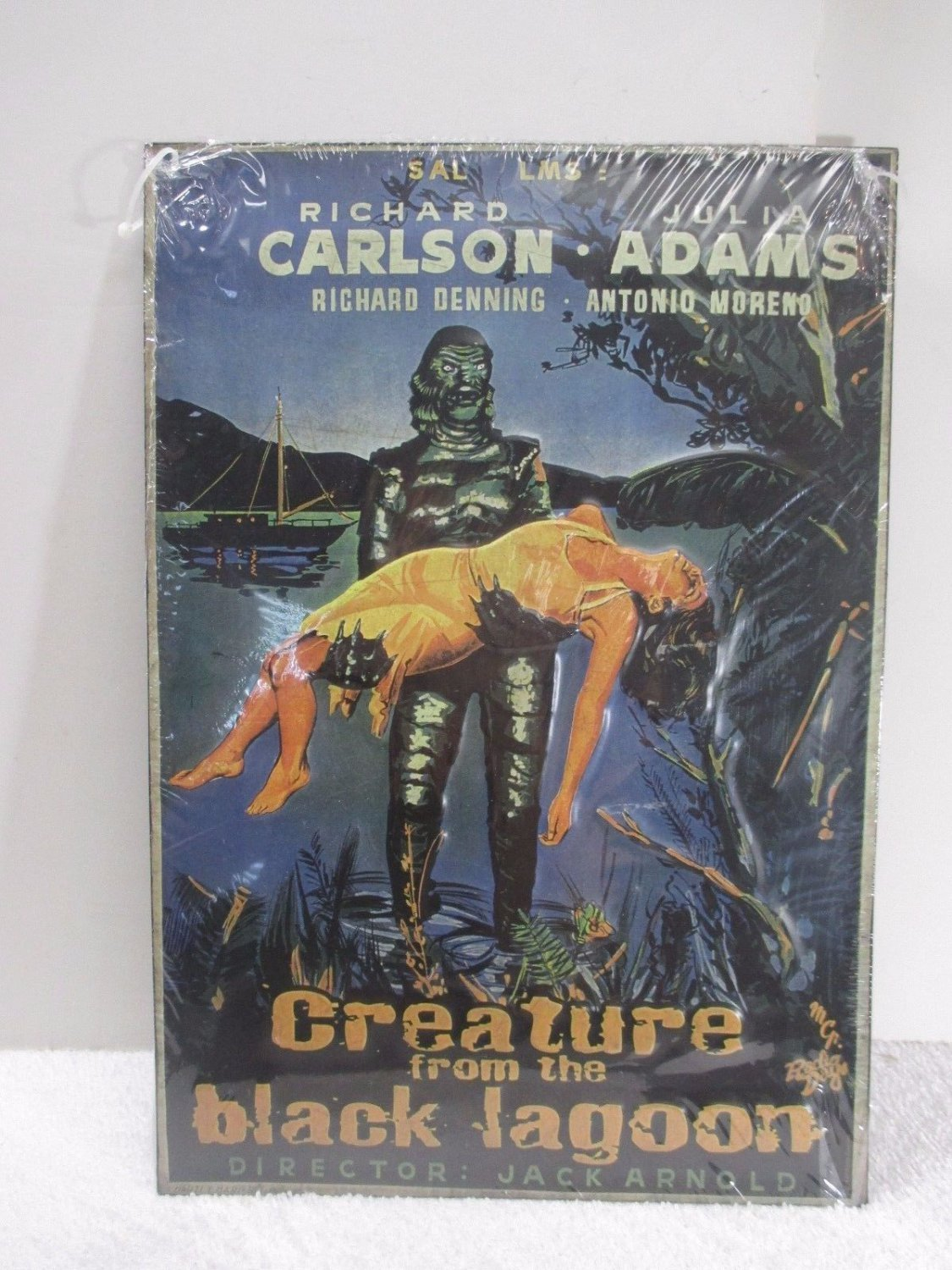 Vintage Embossed Movie Theater Creature From The Black