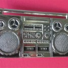 Ghetto Blaster Boom Box Belt Buckle. Vintage 80s Fashion FREE SHIPPING