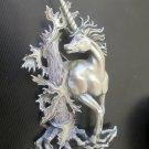 "JJ"" Jonette Jewelry Silver Pewter 'REGAL Unicorn' Fantasy Vintage Pin"