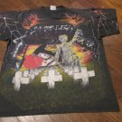 Metallica Collage All Over print Double Sided 1991 Vintage Tour T Shirt Large RARE FREE SHIPPING