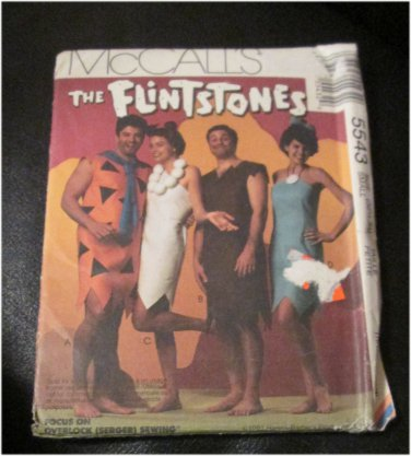 Mc Call's Sewing Pattern The Flinstones Costume Patterns Size Small 32 1/2,34