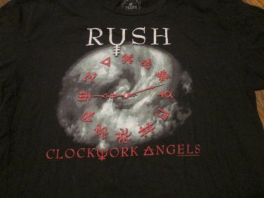 RUSH Clockwork Angels Size XL Shirt Soft 100% Cotton