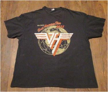 Van Halen North American Tour 2015 Concert Tour Shirt Size 2XL