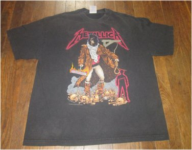 RARE ORIGINAL VINTAGE Giant 1994 METALLICA PUSHEAD UNFORGIVEN Concert T-SHIRT MEN XL FREE SHIPPING