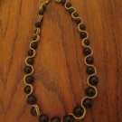 Kenneth Jay Lane KJL Costume Jewelry Black Beaded Gold Chain Necklace FREE SHIPPING