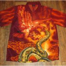 Amazing Phoenix Serpent Men's Button-Up Dress Shirt Size Small