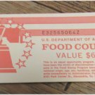 $60 USDA Incomplete Food Coupons Real Vintage Food Stamps Series 1996  E32565064Z  FREE SHIPPING