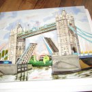 Tile Picture Tower Bridge 11x14 inch Hand Crafted Art Tile Ceramics