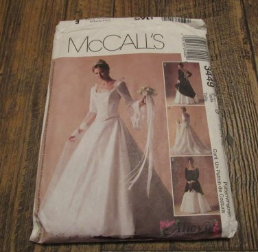 McCALLs 3449 Alicyn Exclusive BEAUTIFUL Bride Bridesmaid Dress Pattern 12-14-16 UNCUT FREE SHIPPING